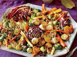 roasted vegetable salad apple cider vinaigrette recipe myrecipes