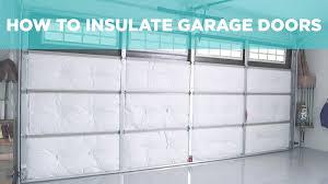 how to insulate a garage door video diy