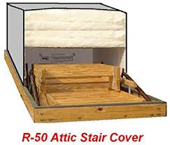amazon com 25x54 attic pull down stair ladder cover r 50