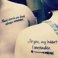 quotes tattoos for couples cool best 25 matching quote tattoos