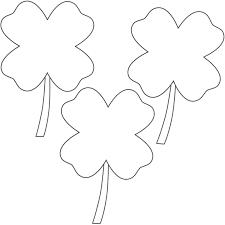 4 leaf clover coloring page 4 leaf clover coloring page shamrock
