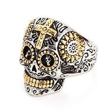 cool skull rings images Seven50 sugar skull rings for men women stainless steel day of jpg