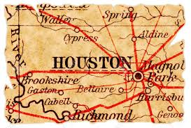 Old Texas Map Houston Texas On An Old Torn Map From 1949 Isolated Part Of