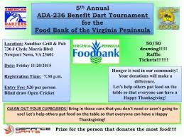 american dart league benefit dart tournament for the food bank of