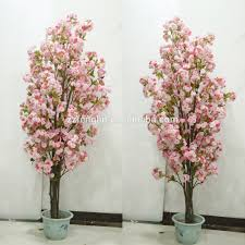 high quality cherry tree indoor decorative silk artificial cherry