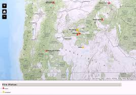 a map of oregon wildfires oregon smoke information current oregon wildfire map for july 8
