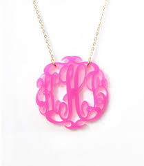 monogram necklace acrylic acrylic script monogram necklace by moon and lola featured at