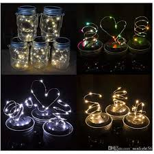 Solar Powered Patio Lights String Solar Powered Led Jars Light Up Lid 10 Led String