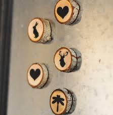 wood magnets cookies and christmas and snowmen and winter
