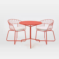 outdoor cafe table and chairs soleil metal outdoor bistro dining set table 2 chairs west elm