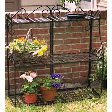garden decor classy outdoor plant stand plans simple 3 tier