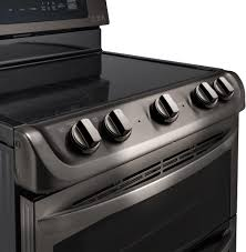 Kitchen Stove Knobs Lg Lde4413 30 Inch Dual Oven Electric Range With 7 3 Cu Ft