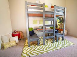 Designs For Building A Loft Bed by How To Build A Loft Bed With A Built In Table And Benches Hgtv