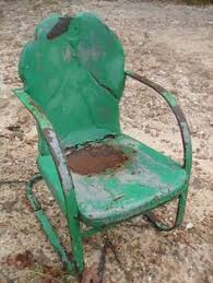 Vintage Patio Furniture Metal by Vintage Metal Chairs And Retro Patio Tables Vintage Gliders