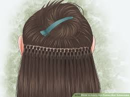 hair extension how to apply hot fusion hair extensions 5 steps with pictures