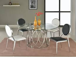 Contemporary Upholstered Dining Room Chairs Dining Room Large Round Glass Dining Table 8 Seats Purple