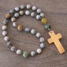 christian rosary handmade christian rosary by holy rocks spiritual jewelry earthy
