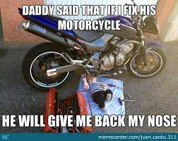 Funny Biker Memes - baby fixing motorcycle bikers funny cars and cars