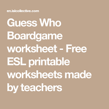 esl printable word games for adults guess who boardgame worksheet free esl printable worksheets made