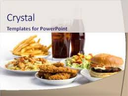 Powerpoint Template Fast Food Theme With Burger And French Fires Fast Food Ppt