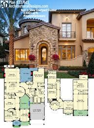 plan 31822dn four second floor balconies luxury houses house plan plan 83376cl best in show courtyard stunner luxury