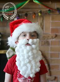santa beard kids craft santa beard disguise say yes