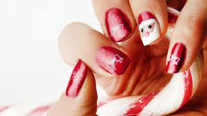 nail art for christmas santa and christmas bow youtube