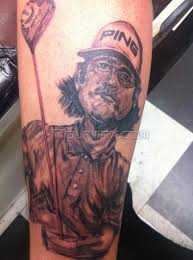fan gets tattoo of bubba watson if bubba were right handed