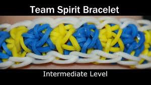 rainbow loom team spirit bracelet youtube