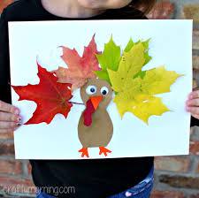 leaf turkey craft for crafty morning