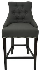 bar stools leather bar stools with nailhead trim gray wood bar