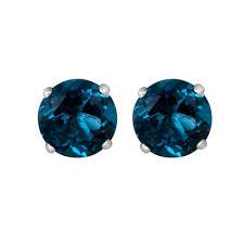 blue stud earrings london blue topaz solitaire stud earrings item er100rd w1lb ko a