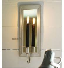 Wall Sconces Candles Holder Ikea Gemenskap Wall Sconce Candle Holder Silver Color Mirrored