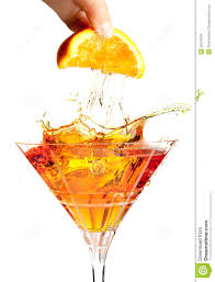 cocktail splash splash cocktail with orange stock image image 25377539
