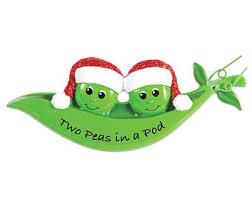 two peas in a pod ornament pea in a pod ornament etsy