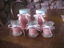 baby shower for girl ideas girl baby shower favor ideas clear glass candy jar with ribbon
