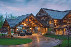 Large Log Cabin Floor Plans Discover Western Lodge Log Home Designs From Pioneer Log Homes Be