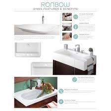 ronbow ronbow kendra 31 inch bathroom vanity set in black quartz