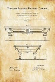 Billiard Room Decor Pool Table Patent 1872 Patent Print Wall Decor Billiard Room