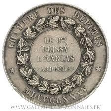 chambre des deputes troisième république 1871 1940 médaille d identité à la chambre