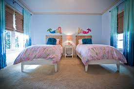 Twin Bedroom Ideas by Bedroom Charming Mermaid Twin Bedroom With Twin Pink Comfort Bed