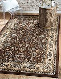 6 X 9 Area Rugs Unique Loom Kashan Collection Burgundy 6 X 9 Area Rug