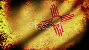 New Mexican Flag New Mexico State Flag Waving Grunge Look Royalty Free Video And