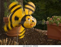 plastic bee garden ornament stock photos plastic bee garden