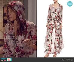 hippie jumpsuit wornontv calista s floral hooded jumpsuit on mistresses