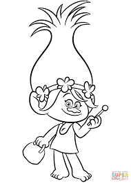 poppy from trolls coloring page free printable coloring pages