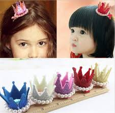 toddler hair bows children s crown pearl princess hair clip hair accessories