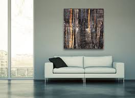 artist wall wood black white grey brown abstract wood effect on canvas