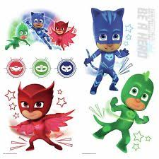 pj masks glow dark 8 wall decals catboy owlette gekko room