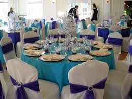 enchanting purple and blue wedding table decor 17 in wedding
